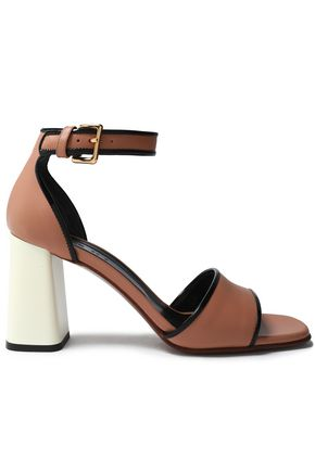 MARNI Color-block leather sandals