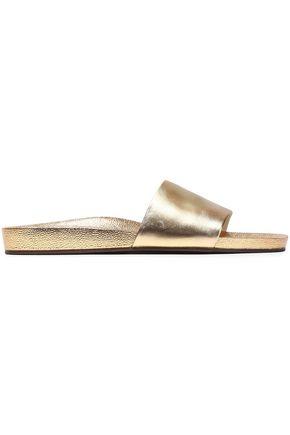 SCHUTZ Leather slides