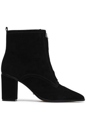 SCHUTZ Zip-detailed suede ankle boots