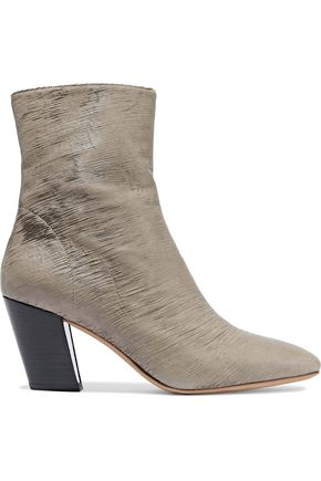 IRO Sliced coated-leather ankle boots