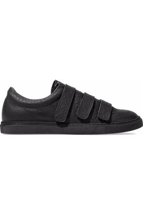 IRO Textured-leather sneakers