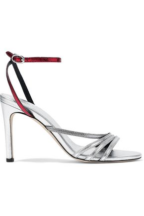 IRO Metallic two-tone leather sandals