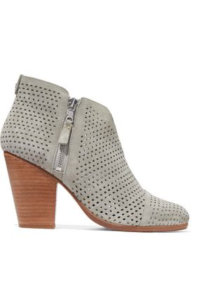 RAG & BONE Laser-cut suede ankle boots