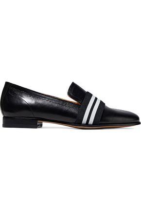 RAG & BONE Grosgrain-trimmed leather loafers