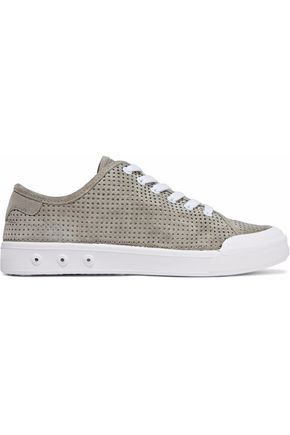 RAG & BONE Perforated suede sneakers