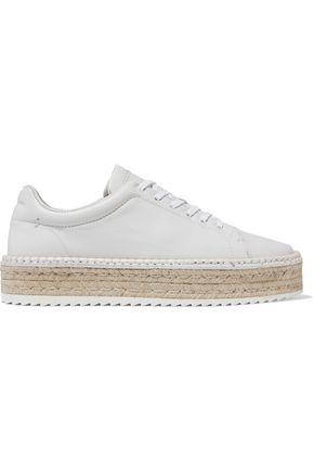 RAG & BONE Kent leather platform espadrille sneakers