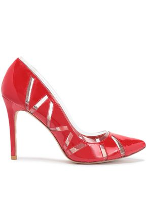 LUCY CHOI London Cutout PVC and patent-leather pumps