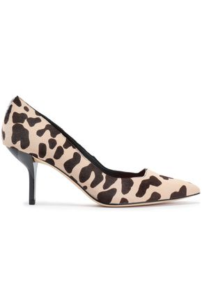 DIANE VON FURSTENBERG Printed calf hair pumps