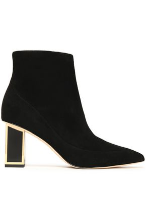 DIANE VON FURSTENBERG Two-tone leather ankle boots