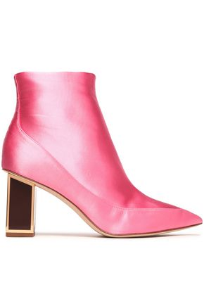 WOMAN CAINTA SATIN ANKLE BOOTS PINK