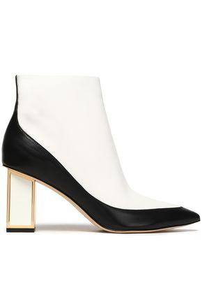 DIANE VON FURSTENBERG Two-tone leather ankle boots