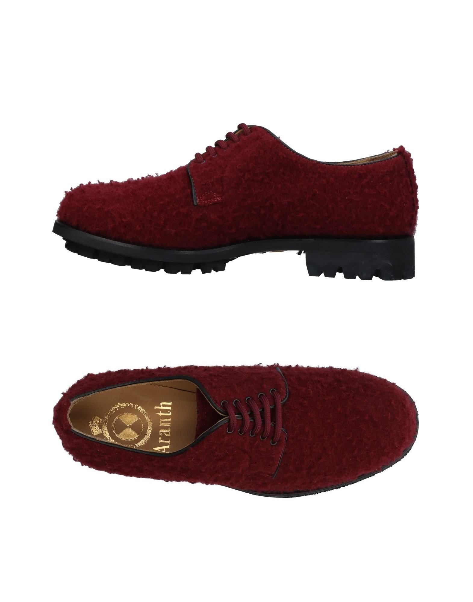 ARANTH Laced Shoes in Maroon