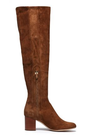 DIANE VON FURSTENBERG Suede over-the-knee boots