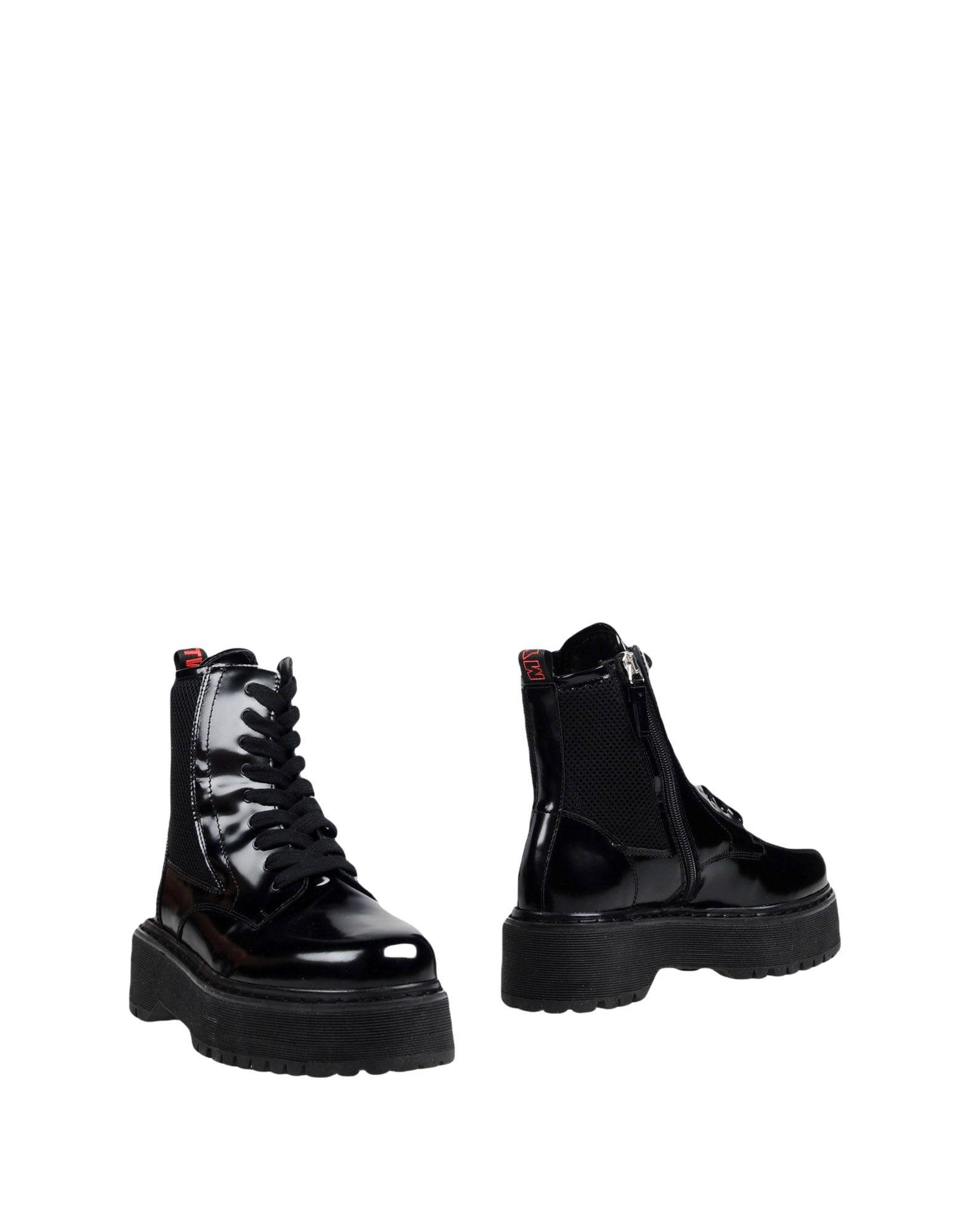 《送料無料》MY TWIN by TWIN SET レディース ショートブーツ ブラック 40 革 / 紡績繊維