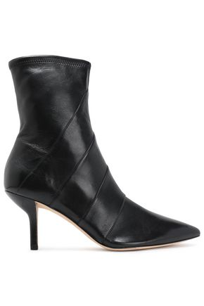 DIANE VON FURSTENBERG Miles paneled leather ankle boots