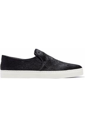 DIANE VON FURSTENBERG Calf hair slip-on sneakers