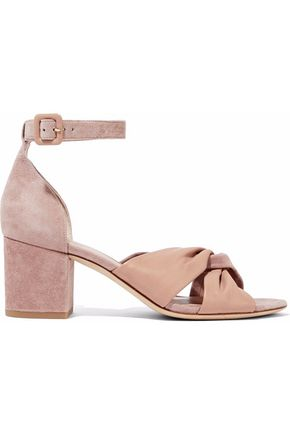 DIANE VON FURSTENBERG Twisted suede and leather sandals