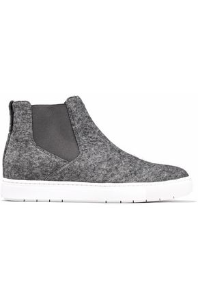 VINCE. Mélange felt slip-on sneakers