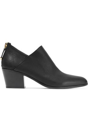 DIANE VON FURSTENBERG Textured-leather ankle boots