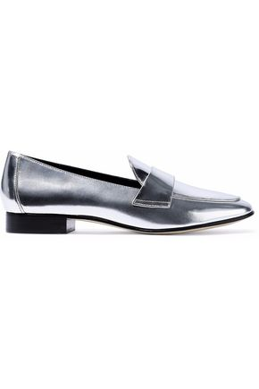 DIANE VON FURSTENBERG Metallic leather loafers