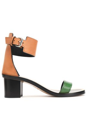 ISABEL MARANT Color-block leather sandals