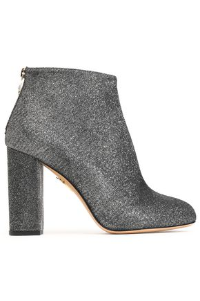 CHARLOTTE OLYMPIA Metallic woven ankle boots