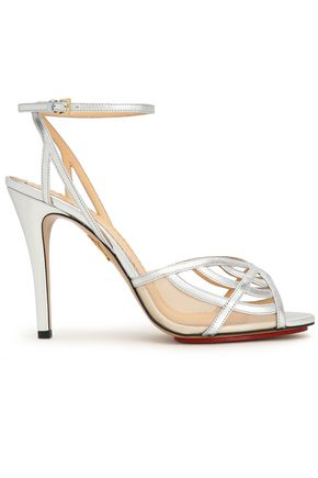 CHARLOTTE OLYMPIA Cutout metallic leather sandals