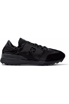 Y-3 Suede, leather and shell sneakers