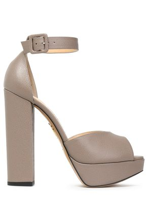 CHARLOTTE OLYMPIA Eugenie textured-leather platform sandals