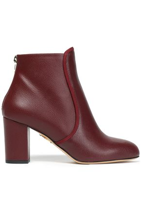 CHARLOTTE OLYMPIA Pebbled-leather ankle boots