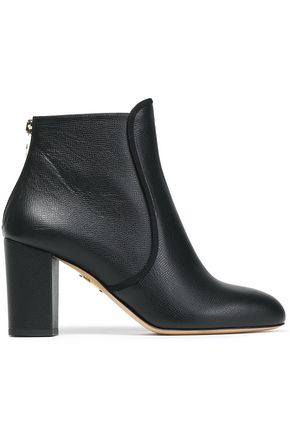 CHARLOTTE OLYMPIA Textured-leather ankle boots