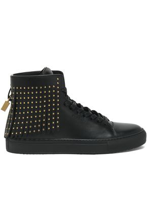 BUSCEMI Studded leather sneakers