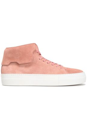 WOMAN SUEDE HIGH-TOP SNEAKERS BLUSH