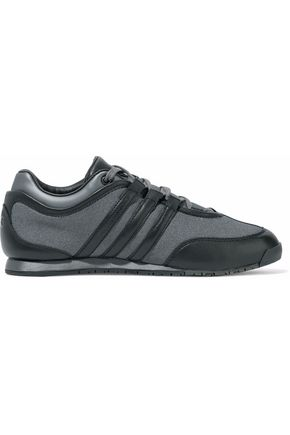 Y-3 Leather and mesh sneakers