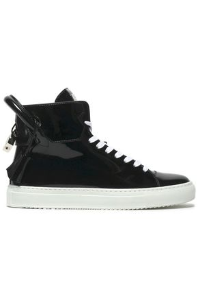 BUSCEMI Embellished leather high-top sneakers