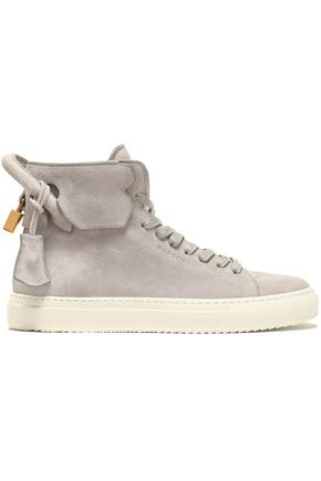 BUSCEMI Embellished suede high-top sneakers
