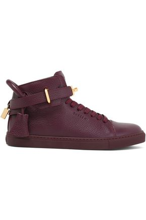 BUSCEMI Embellished textured-leather sneakers