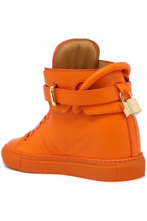 1abab20c25cf8a ... BUSCEMI Embellished croc-effect patent-leather high-top sneakers