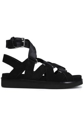 ALEXANDER WANG Natalie suede and canvas sandals