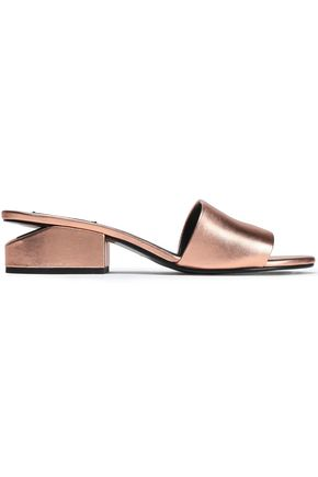 ALEXANDER WANG Lou metallic leather sandals