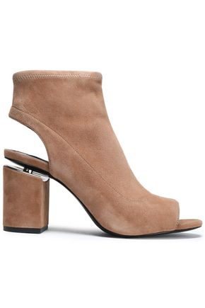 ALEXANDER WANG Cutout suede ankle boots