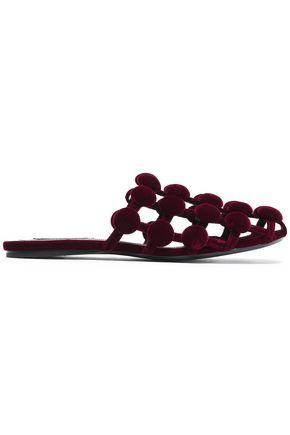 ALEXANDER WANG Amelia studded velvet slippers