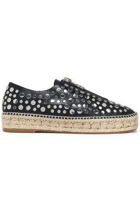 ALEXANDER WANG Studded leather espadrilles