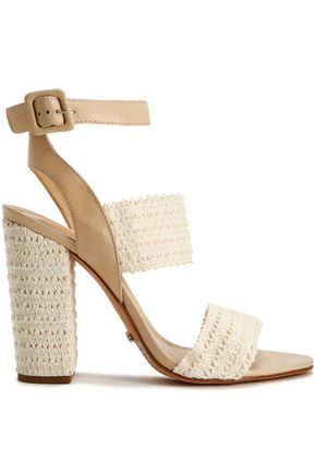 SCHUTZ Crocheted and leather sandals