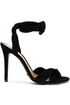 SCHUTZ Knotted suede sandals