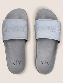 ARMANI EXCHANGE EMBOSSED LOGO SLIDES Sandal Man d