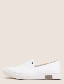 ARMANI EXCHANGE LOGO RIVET SLIP-ON SNEAKERS SLIP-ON Woman f
