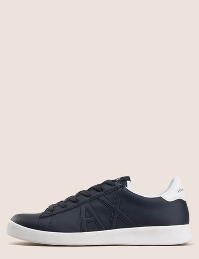 ARMANI EXCHANGE COLORBLOCK ACCENT LOW-TOP SNEAKERS Man front