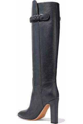 VALENTINO GARAVANI Braided leather knee boots