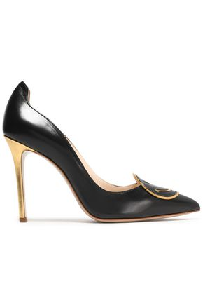 CAMILLA ELPHICK Appliquéd leather pumps